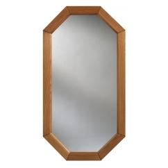 espejo w ośmiokątnej ramie drewnianej :: DUBIEL VITRUM - espejos producción